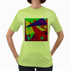 Colorful abstract design Women s Green T-Shirt