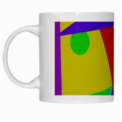 Colorful abstract design White Mugs