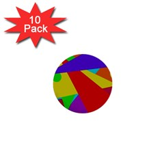 Colorful abstract design 1  Mini Buttons (10 pack)