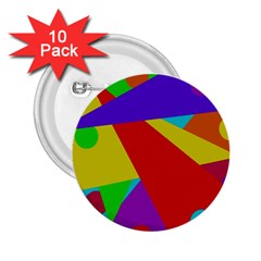Colorful abstract design 2.25  Buttons (10 pack)