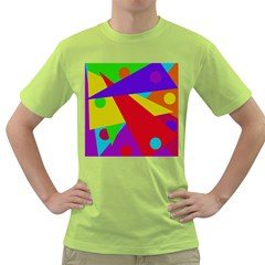 Colorful abstract design Green T-Shirt