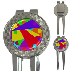 Colorful Abstract Design 3 In 1 Golf Divots