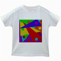 Colorful abstract design Kids White T-Shirts