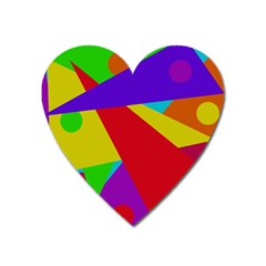 Colorful abstract design Heart Magnet