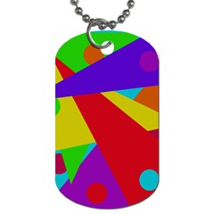 Colorful abstract design Dog Tag (One Side)