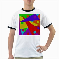 Colorful abstract design Ringer T-Shirts