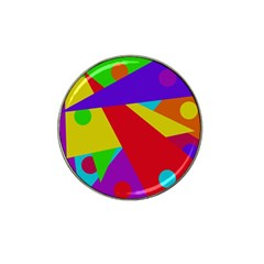 Colorful abstract design Hat Clip Ball Marker