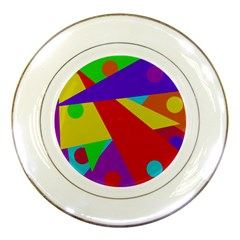 Colorful abstract design Porcelain Plates