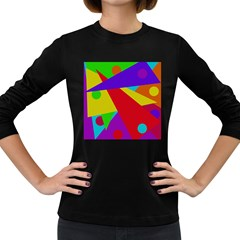 Colorful abstract design Women s Long Sleeve Dark T-Shirts