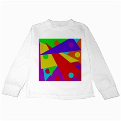 Colorful abstract design Kids Long Sleeve T-Shirts