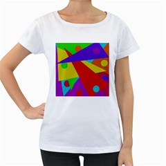 Colorful abstract design Women s Loose-Fit T-Shirt (White)