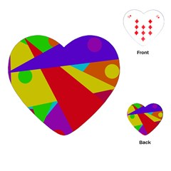 Colorful abstract design Playing Cards (Heart)