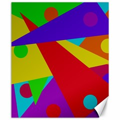 Colorful abstract design Canvas 8  x 10