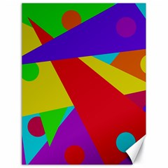 Colorful abstract design Canvas 18  x 24