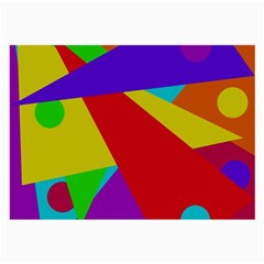 Colorful abstract design Large Glasses Cloth (2-Side)