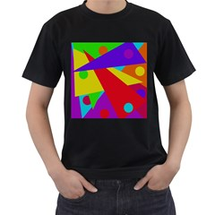 Colorful abstract design Men s T-Shirt (Black)