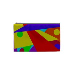 Colorful abstract design Cosmetic Bag (Small)