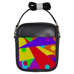 Colorful abstract design Girls Sling Bags