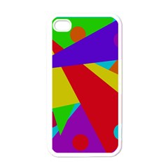 Colorful abstract design Apple iPhone 4 Case (White)