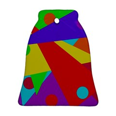 Colorful abstract design Bell Ornament (2 Sides)