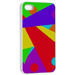 Colorful abstract design Apple iPhone 4/4s Seamless Case (White)