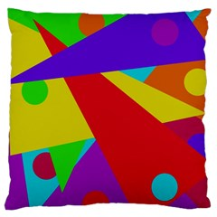 Colorful abstract design Large Cushion Case (Two Sides)