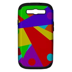 Colorful abstract design Samsung Galaxy S III Hardshell Case (PC+Silicone)