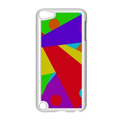 Colorful abstract design Apple iPod Touch 5 Case (White)