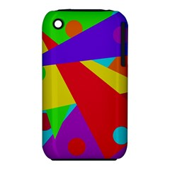 Colorful abstract design Apple iPhone 3G/3GS Hardshell Case (PC+Silicone)