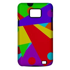 Colorful abstract design Samsung Galaxy S II i9100 Hardshell Case (PC+Silicone)