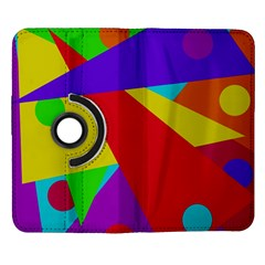 Colorful abstract design Samsung Galaxy Note II Flip 360 Case