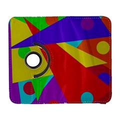 Colorful abstract design Samsung Galaxy S  III Flip 360 Case