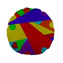 Colorful abstract design Standard 15  Premium Round Cushions