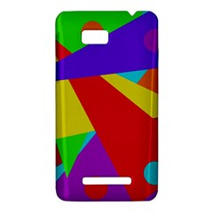 Colorful abstract design HTC One SU T528W Hardshell Case