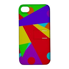 Colorful abstract design Apple iPhone 4/4S Hardshell Case with Stand
