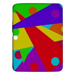 Colorful abstract design Samsung Galaxy Tab 3 (10.1 ) P5200 Hardshell Case