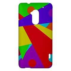 Colorful abstract design HTC One Max (T6) Hardshell Case