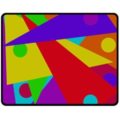 Colorful abstract design Double Sided Fleece Blanket (Medium)