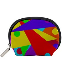Colorful abstract design Accessory Pouches (Small)