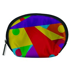 Colorful abstract design Accessory Pouches (Medium)