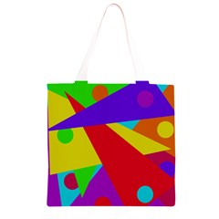 Colorful abstract design Grocery Light Tote Bag