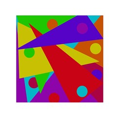 Colorful abstract design Small Satin Scarf (Square)