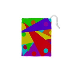 Colorful abstract design Drawstring Pouches (XS)
