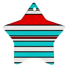 Blue, red, and white lines Ornament (Star)