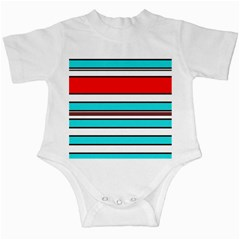 Blue, red, and white lines Infant Creepers