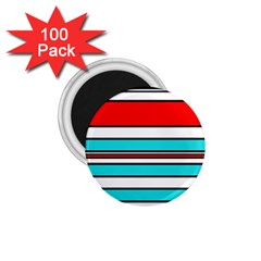 Blue, red, and white lines 1.75  Magnets (100 pack)