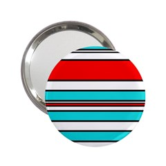 Blue, red, and white lines 2.25  Handbag Mirrors