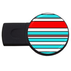 Blue, red, and white lines USB Flash Drive Round (4 GB)