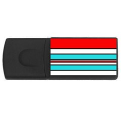 Blue, red, and white lines USB Flash Drive Rectangular (4 GB)