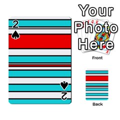 Blue, red, and white lines Playing Cards 54 Designs